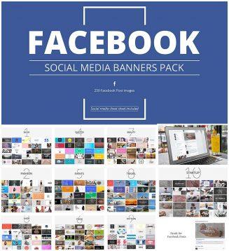 Facebook social media banners