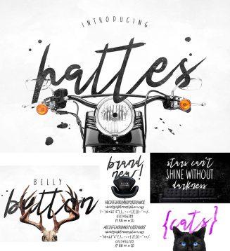 Hattes brush font