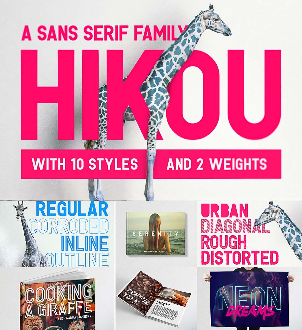 Hikou font family