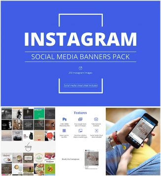 Instagram social media banners collection