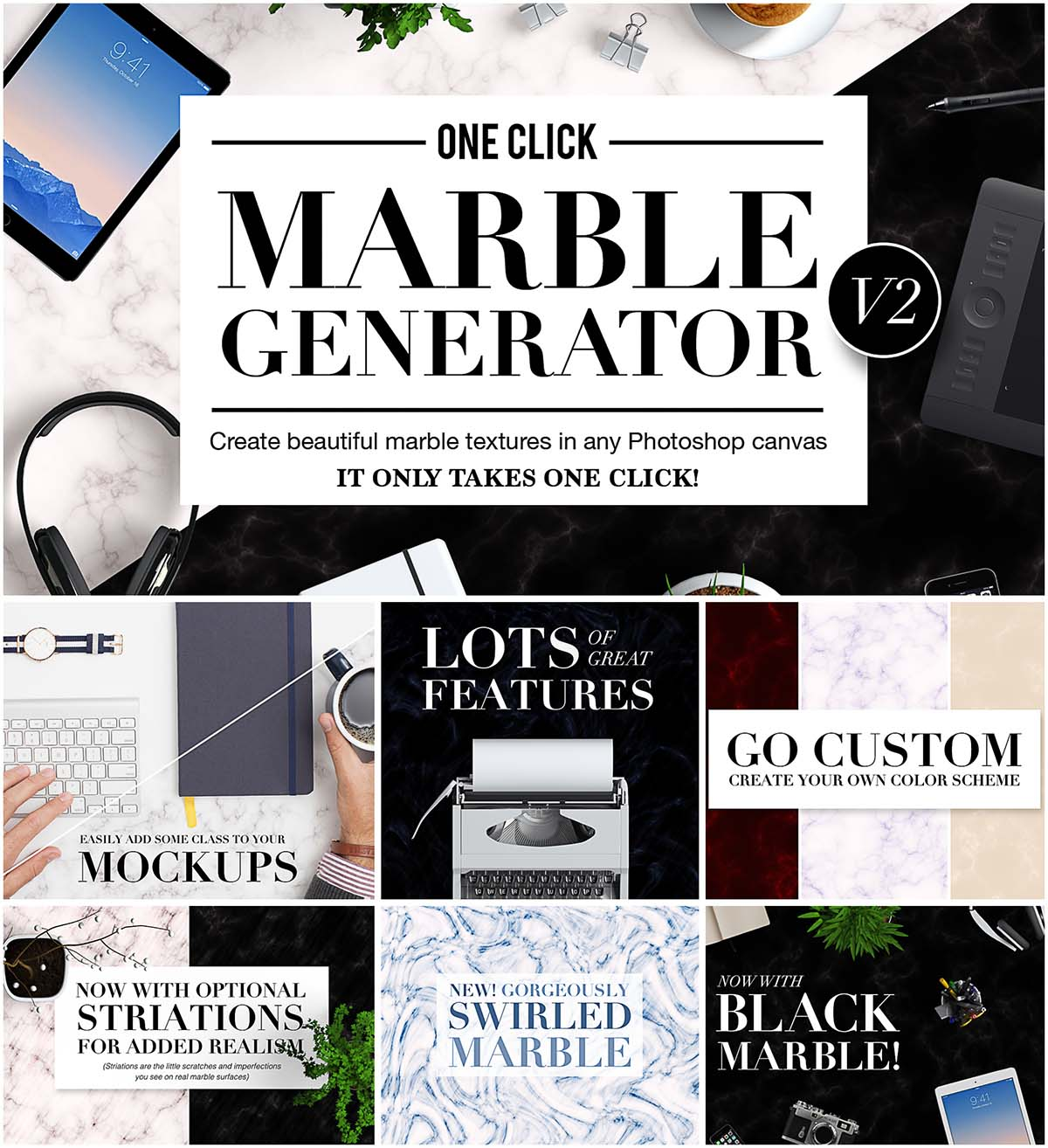 One click marble generator