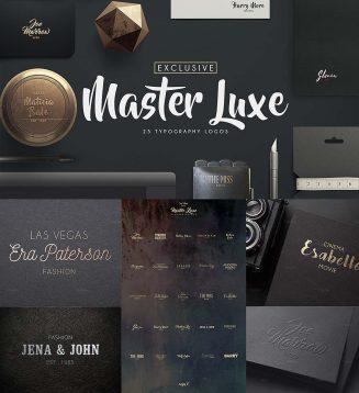 Master luxe typography logo set