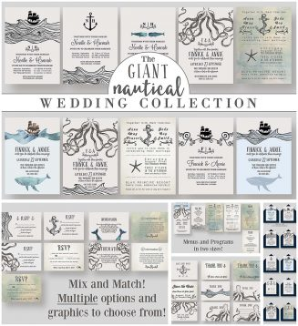 Giant nautical wedding collection