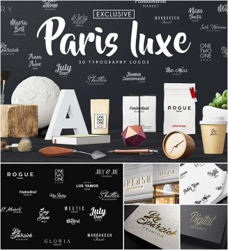Paris luxe typography logo