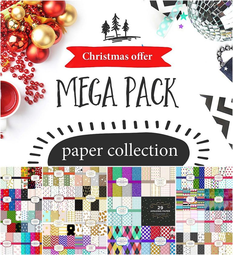 Christmas pattern paper pack