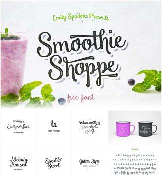 Smootie Shoppe Script Font