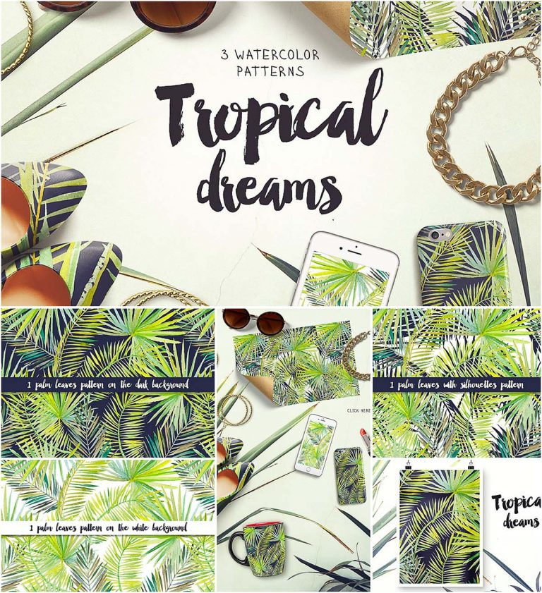 Tropical dreams pattern collection
