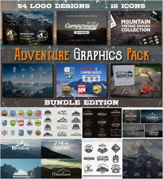 Mountain adventure graphics pack