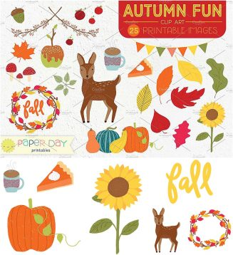 Autumn clipart collection