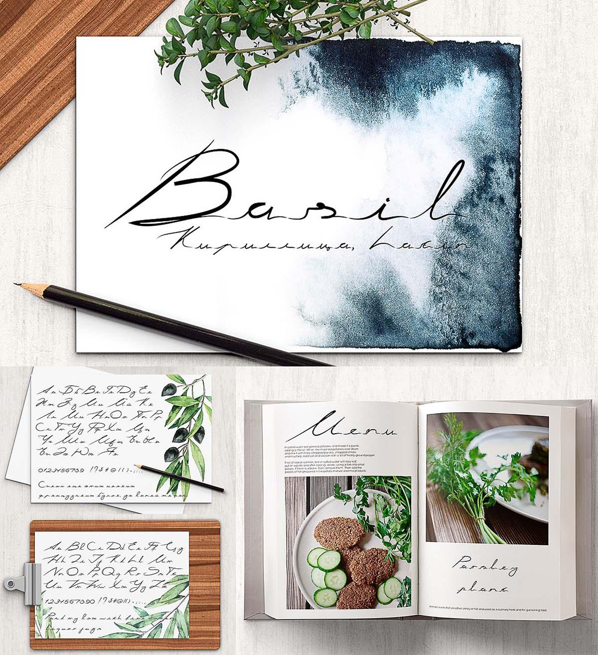 Basil cyrillic font