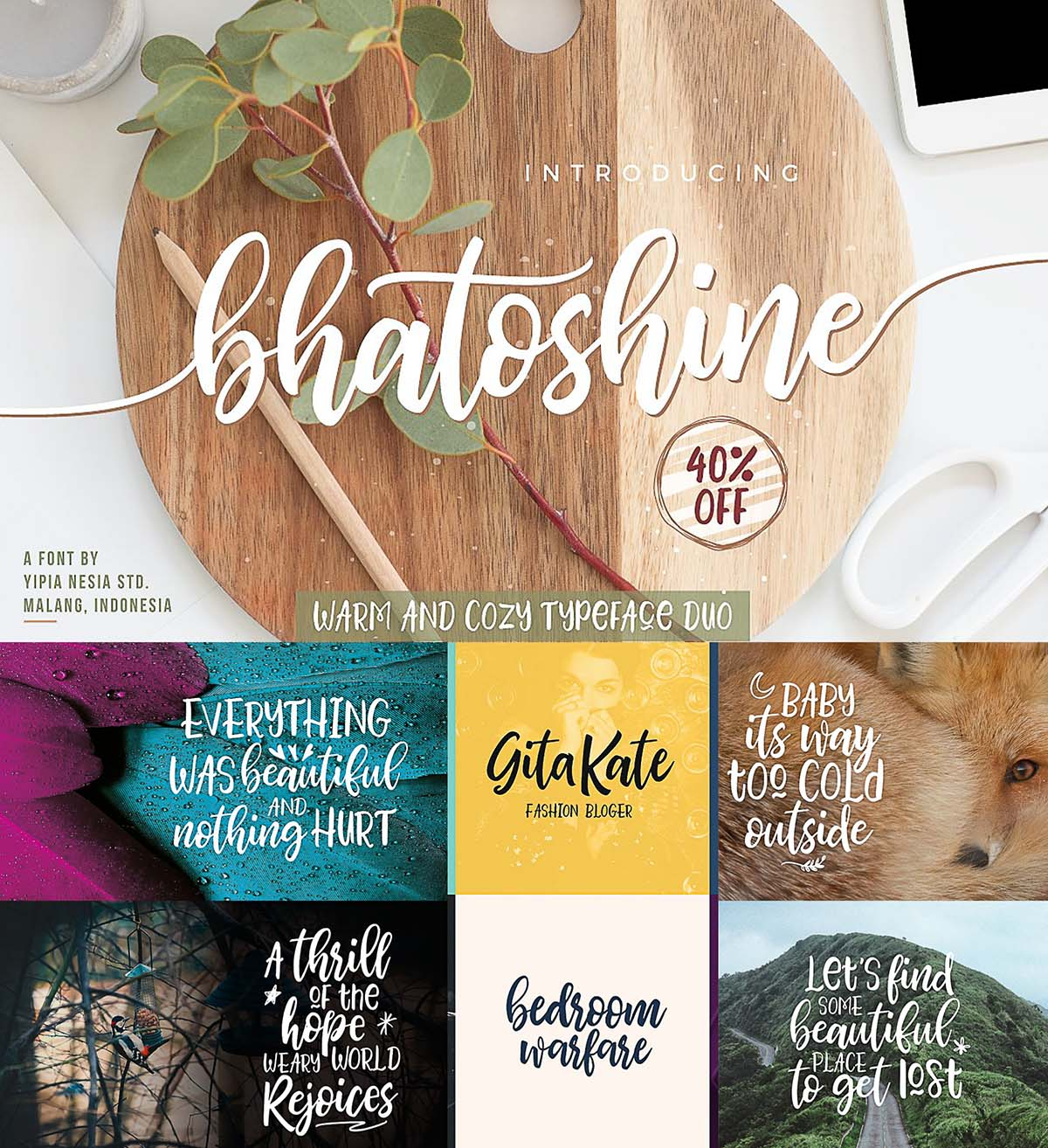 Bhatoshine calligraphy fonts