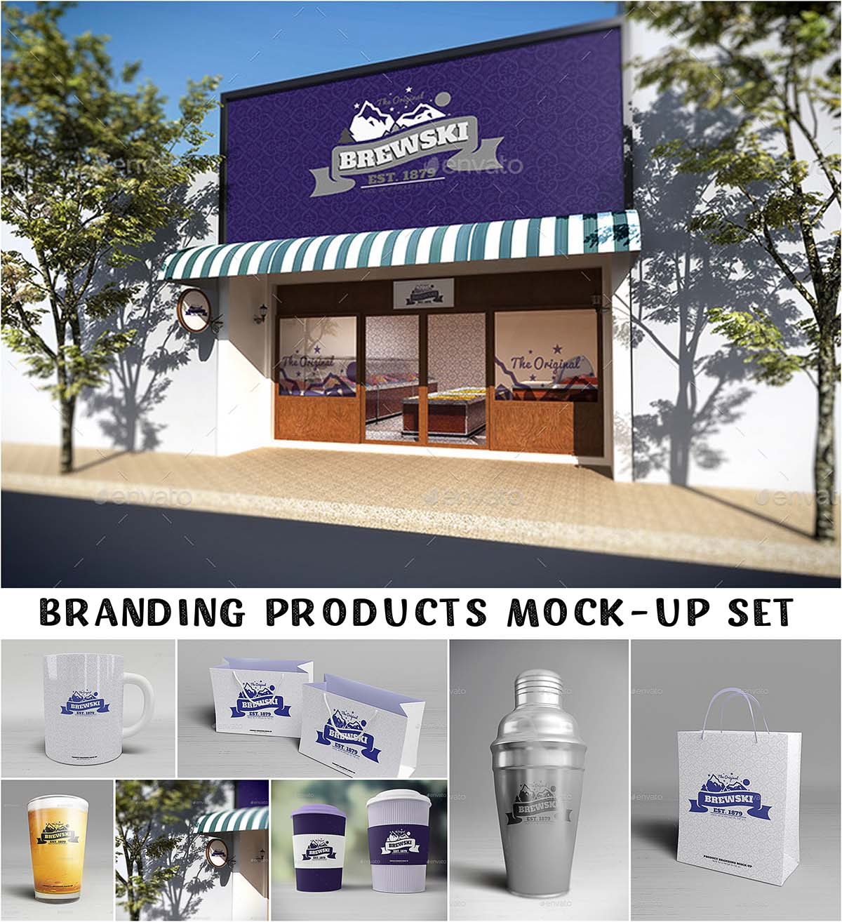 Branding products mockup