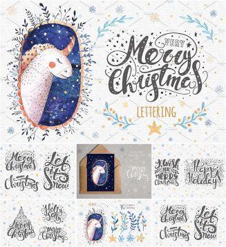 Christmas lettering with bonus