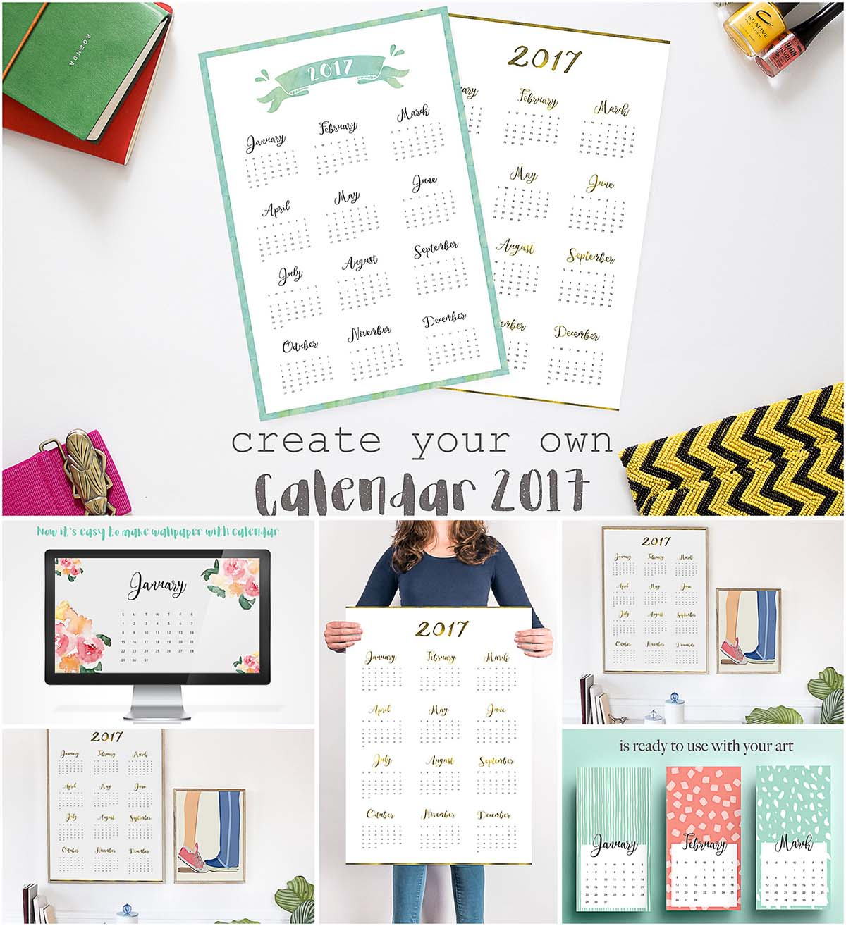 Create personal 2017 calendar year month
