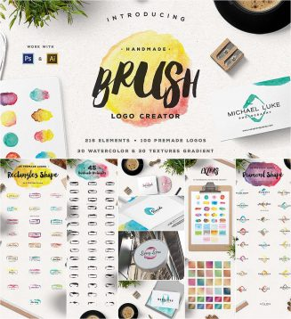 Brush logo creator