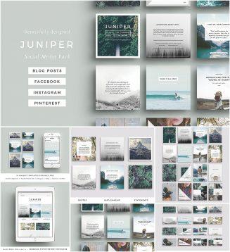 Juniper social media set