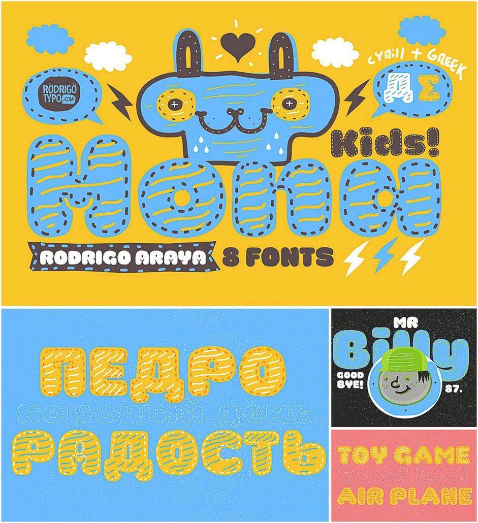 Christmas Kid T Shirt Mock Up: La Mona Kids Font Family