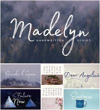 Madelyn handwritten script