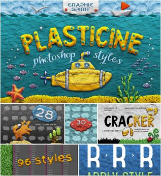 Plasticine photoshop creation kit