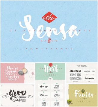 Sensa font family with cyrillic typeface