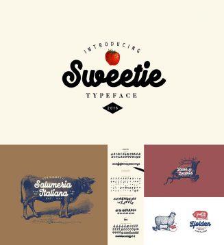 Sweetie monoline typeface