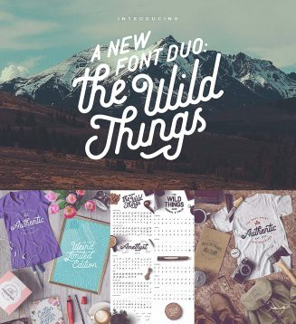 The wild things font duo