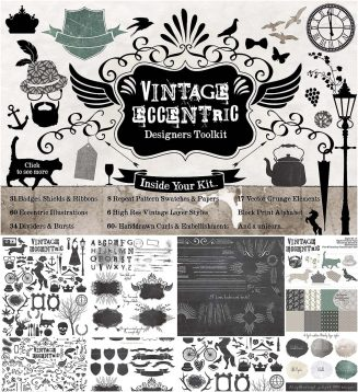 Vintage eccentric toolkit