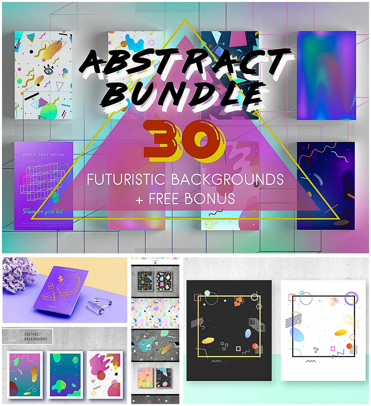 Abstract prints collection