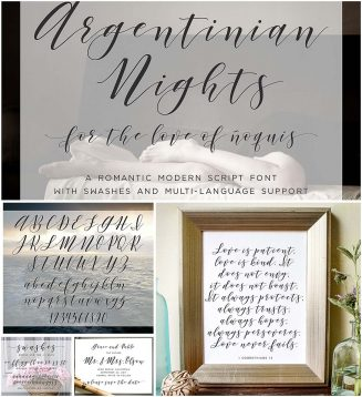 Argentinian nights calligraphy font