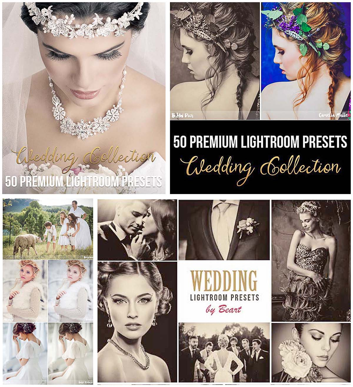 50 Wedding lightroom presets set