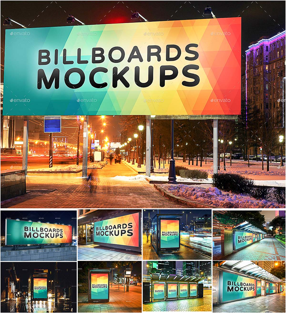 Billboard mockups set