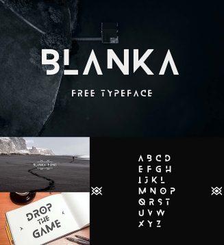 Blanka futuristic font