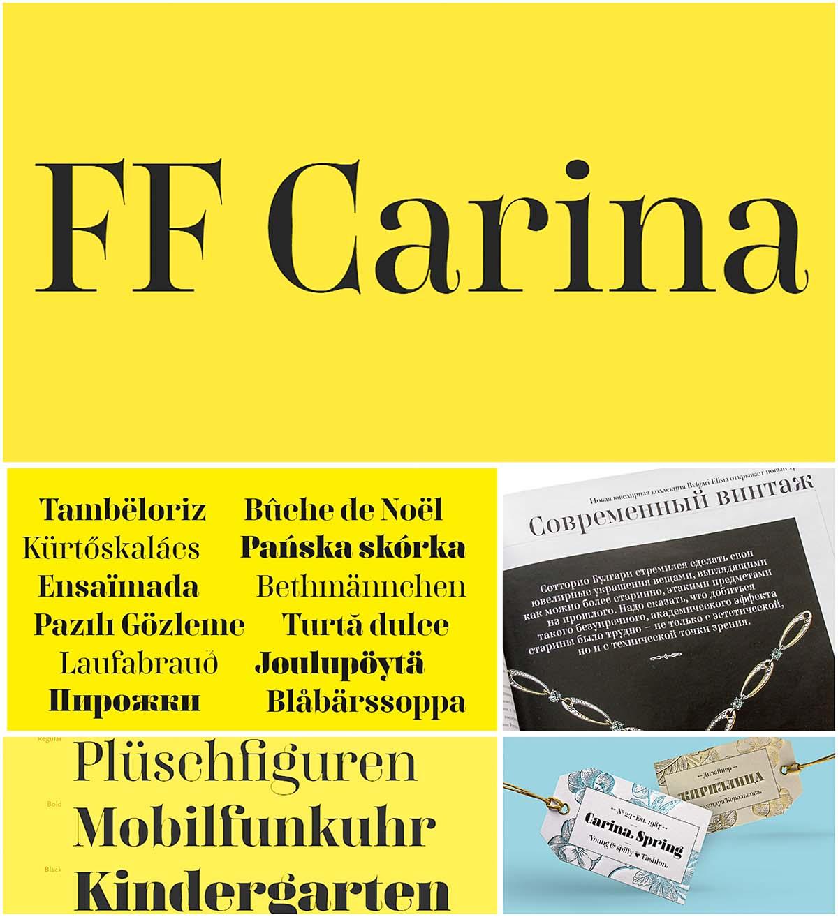 Carina cyrillic font family