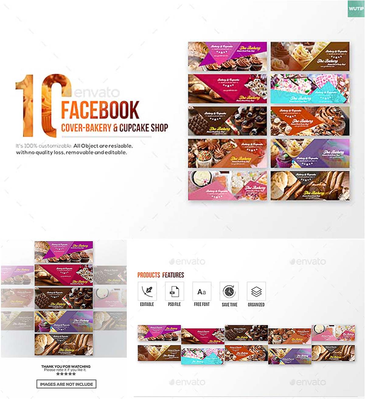 Facebook cover bakery shop