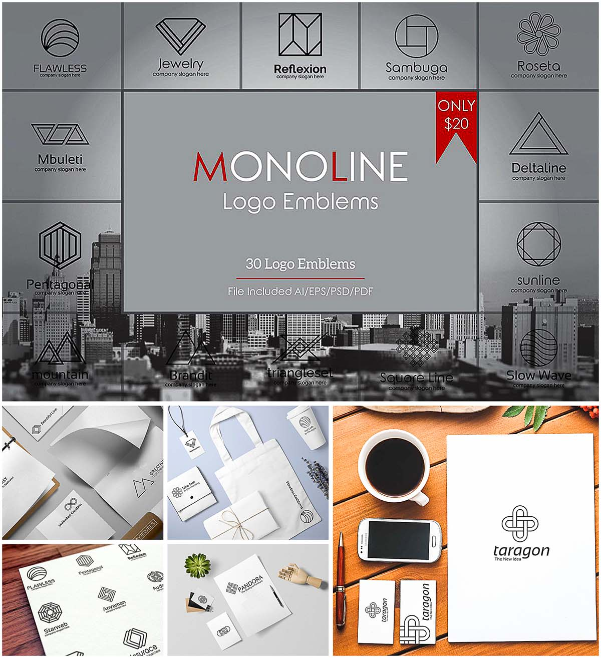 Geometric logo templates