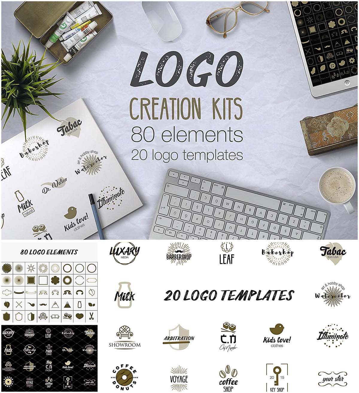 Logo elements and templates