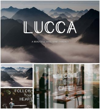 Lucca font with cyrillic typeface