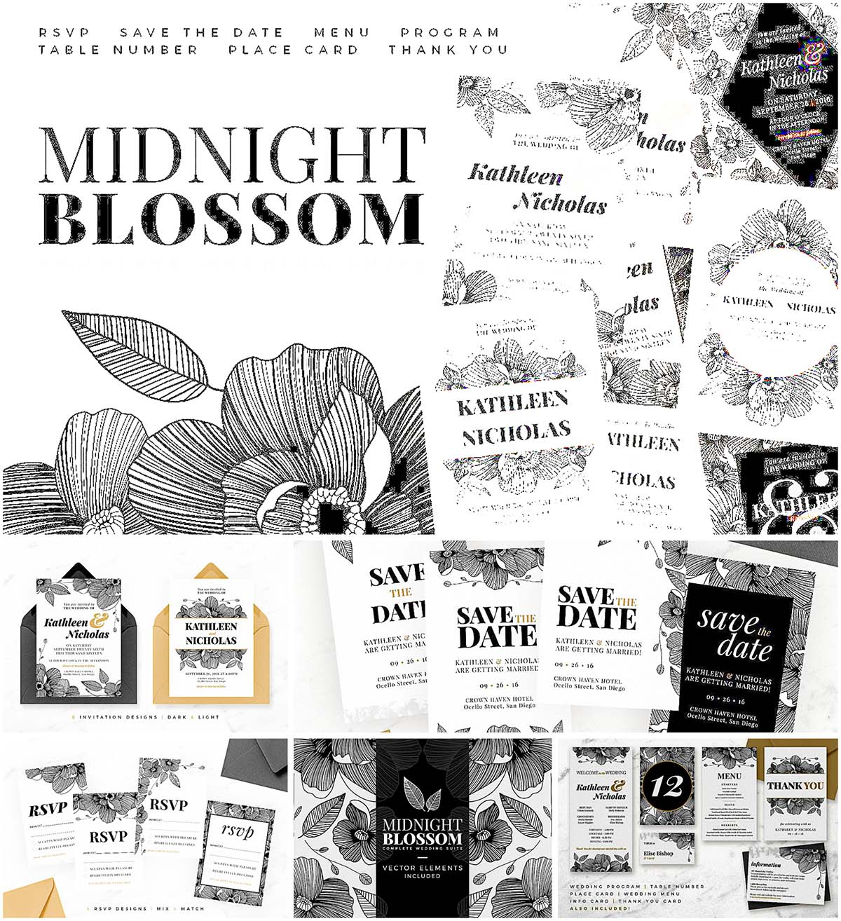 Midnoght blossom wedding suite