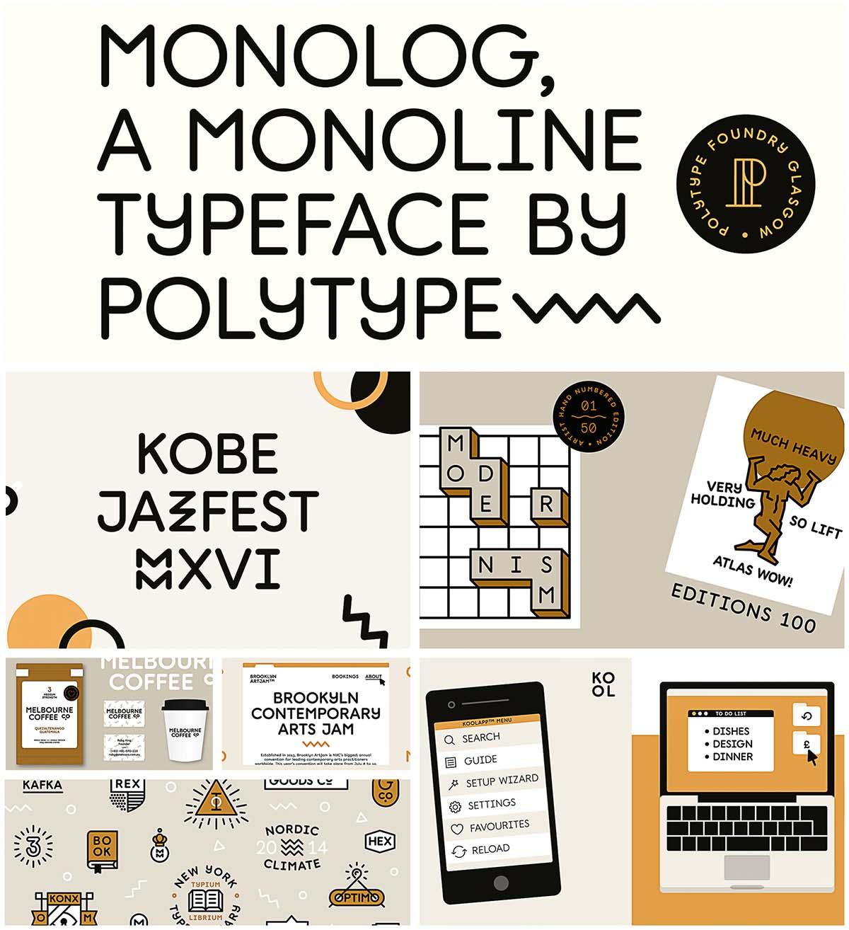 Monolog font family
