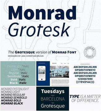 Monrad grotesk cyrillic font family