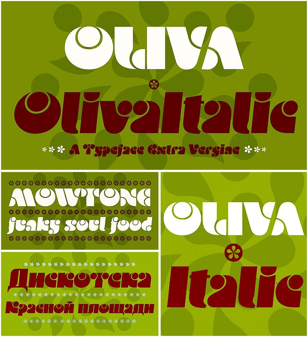 Oliva funky font
