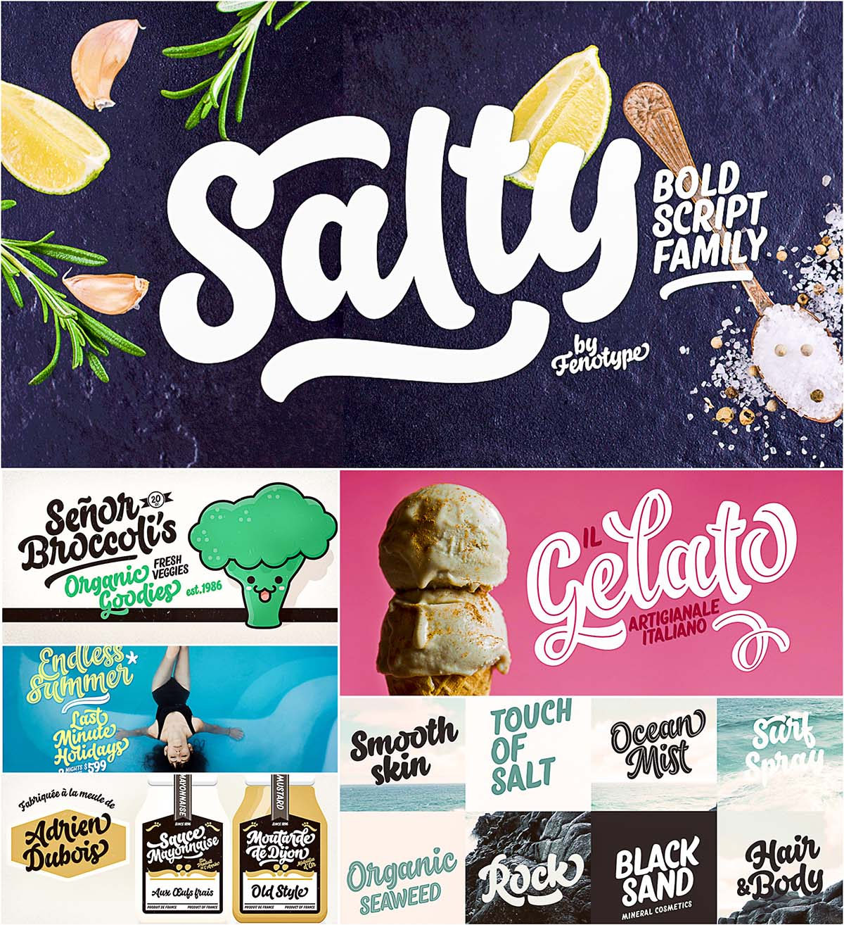 Salty font family