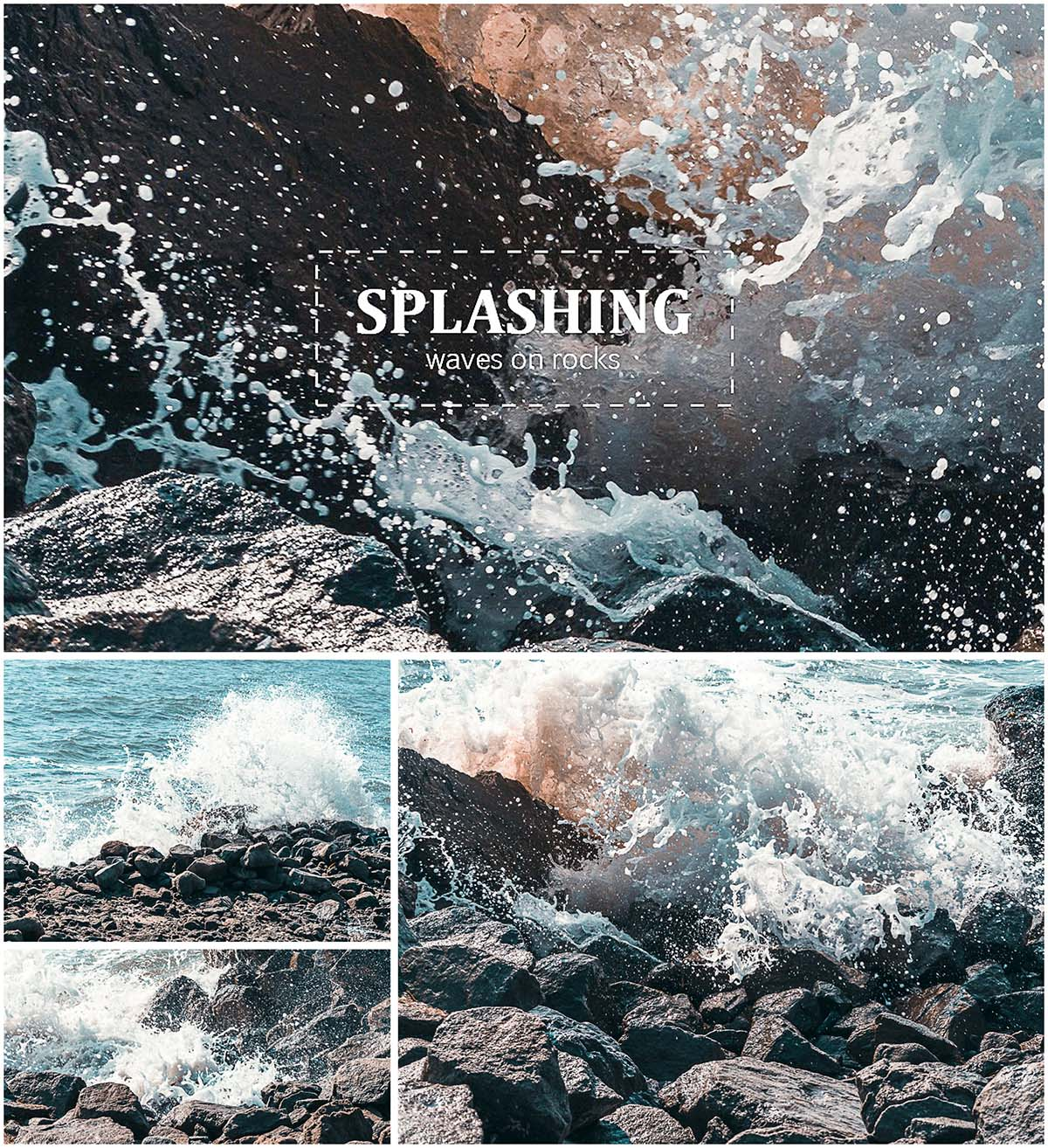 Splashing waves photo pack