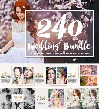 Best wedding photoshop actions set