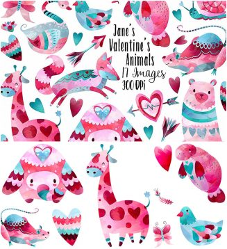 Valentine's Day animal collection