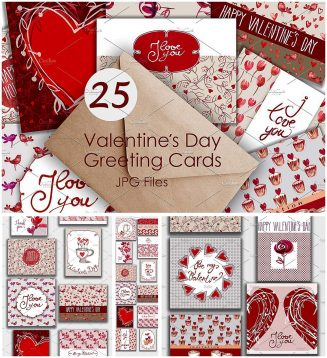 25 valentines day greeting cards