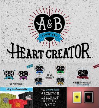 Valentines day hearts creator kit