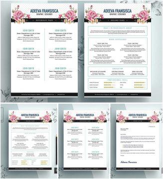 Feminine resume cv template
