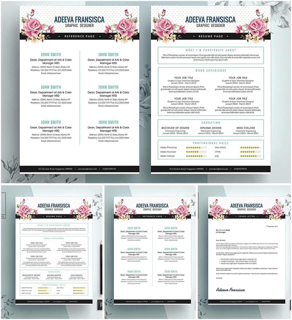 resume Vintage Resume Template vintage feminine resume template free download template