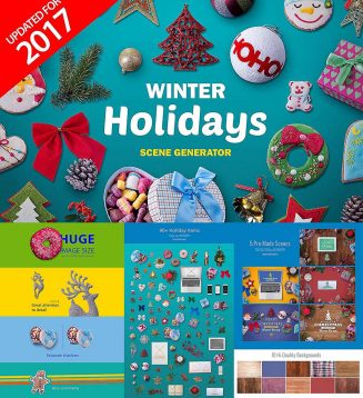 Winter holidays scene generator